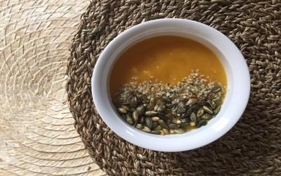 sopa calabaza y zanahoria asada